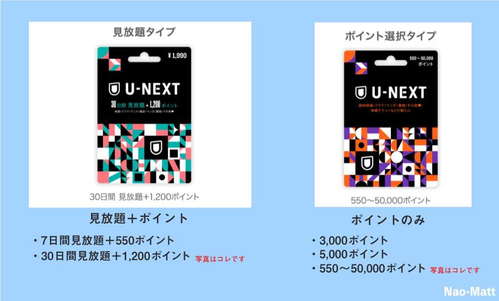 U-NEXTカードの写真です